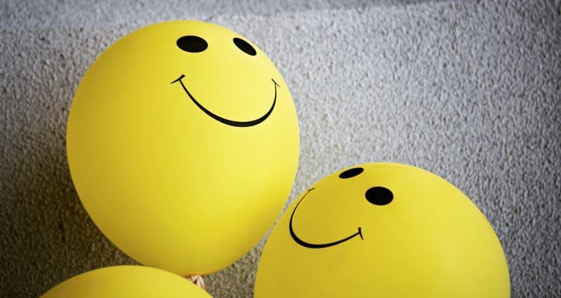 Balloon with smiley faces