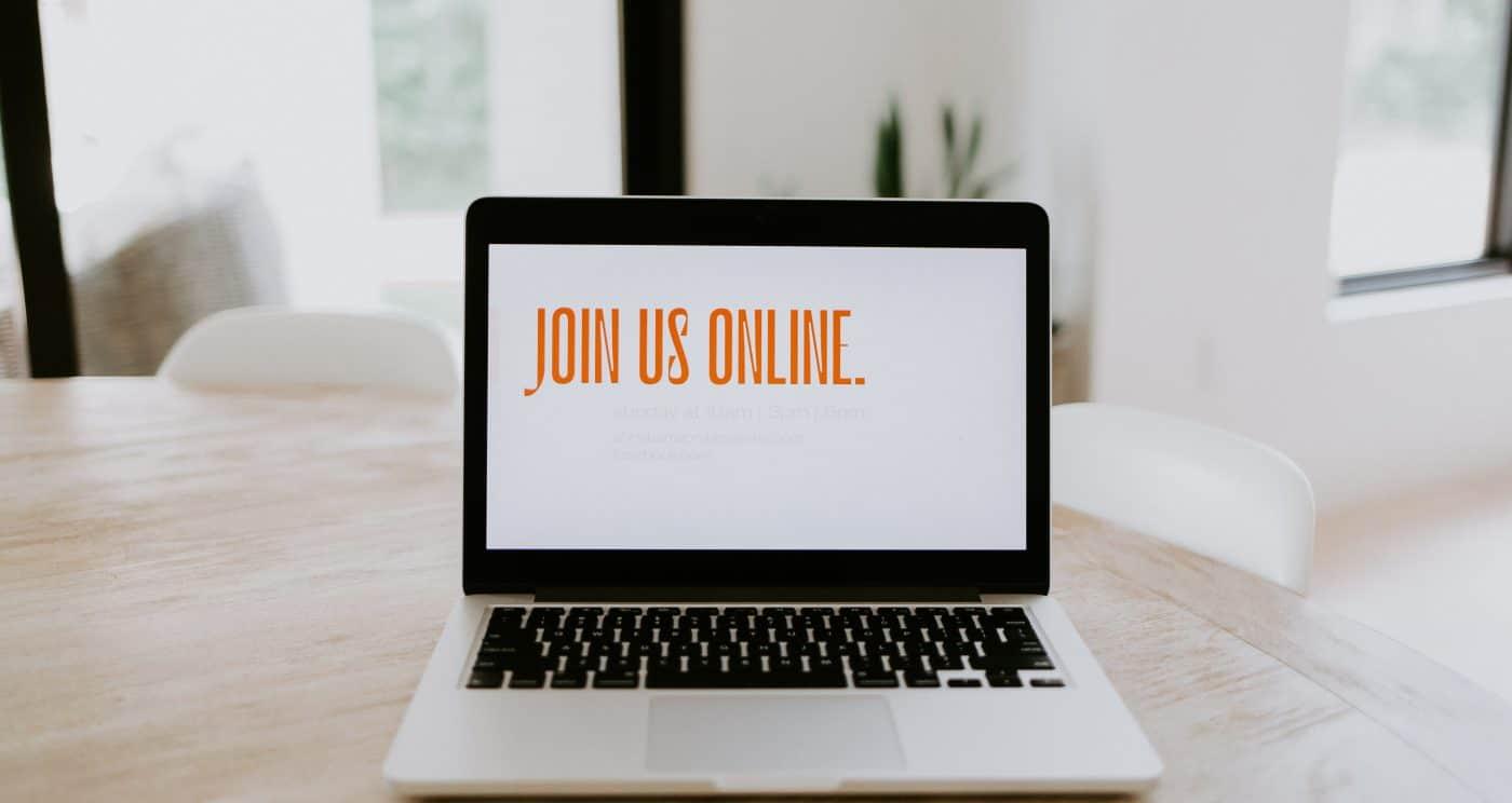 Join Is Online written on a laptop